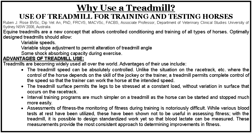 ADVANTAGES OF HORSE TREADMILL USE